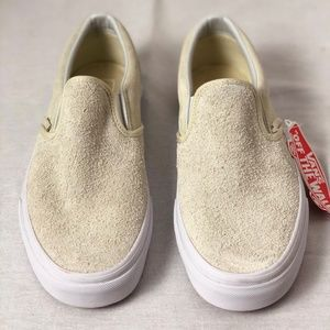 31a495a6da Vans Shoes - Vans Classic Slip On White Hairy Suede Turtle Dove